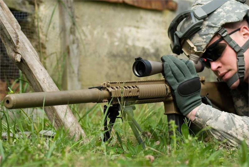 "M110 SASS Suppressor Cover 14.5"" Coyote Brown M110 Sniper Rifle Suppressed"