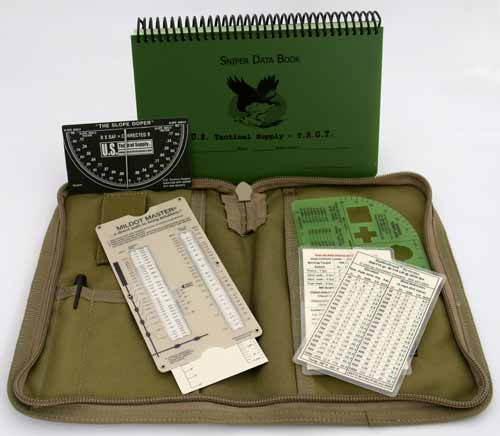 ONE SHOT PACKAGE: Data Book & Cover Mildot Master Slope Doper All Weather pen Ballisticard