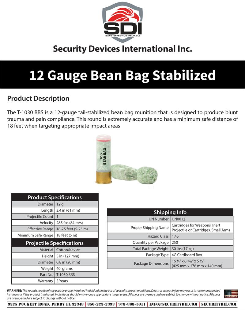 12 Gauge Bean Bag