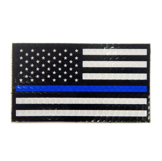 thin blue line union flag patch cops - 679×677
