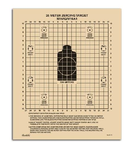 9125 All-Weather 25 Meter Zeroing Target