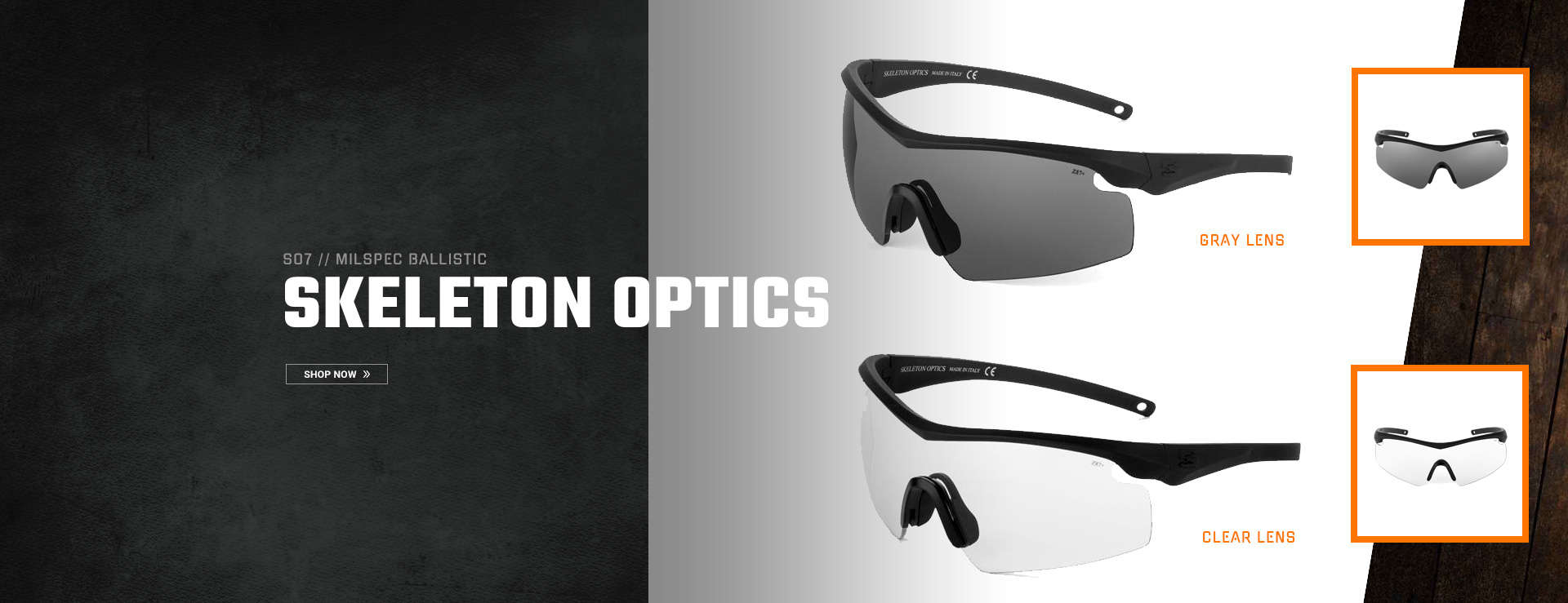 MILSPEC Ballistic Skeleton Optics